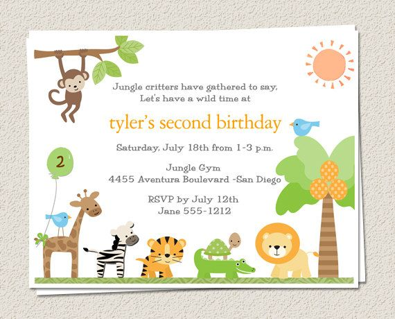 10 Birthday Party Invitations - Jungle Zoo Safari - King of the - best of invitation card for new zoo