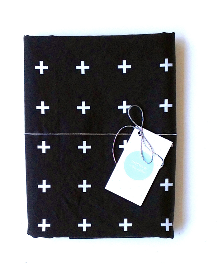 Fitted Cot / Crib sheet Black and White Plus,Cross, Addition, Baby, Toddler