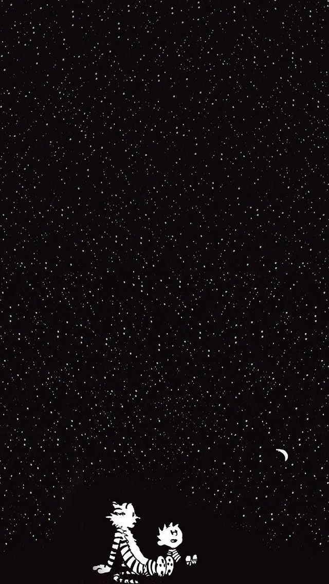 calvin and hobbes in the starry night #iPhone #5s #wallpaper - fresh world map iphone 5 background