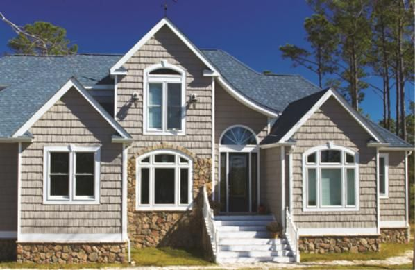 The Foundry Speciality Siding Staggered Shake Gallery The Vinyl Shake Siding Vinyl Siding Farmhouse House
