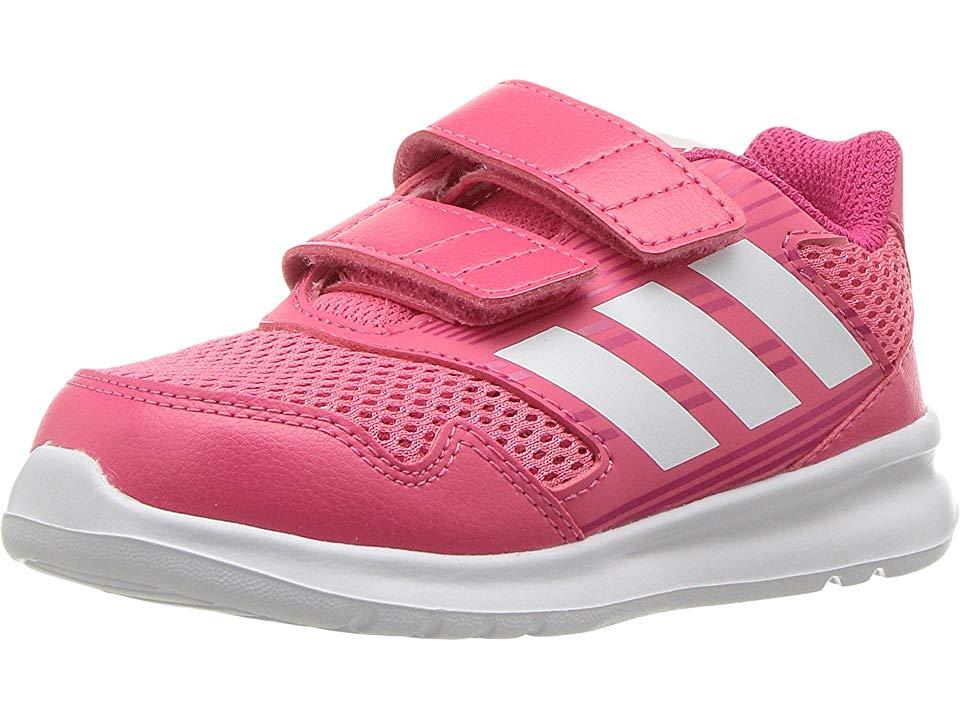 adidas Kids AltaRun (Toddler) Girls Shoes PinkWhiteVivid