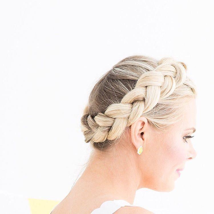 Classic braids girl beautiful for weddinghair