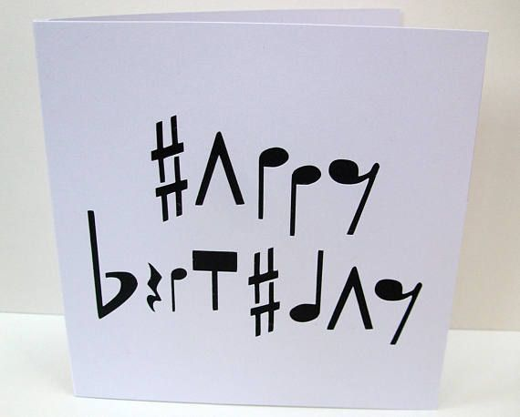 Birthday Cards Notes ~ Music birthday card paper cut card musical notes for her