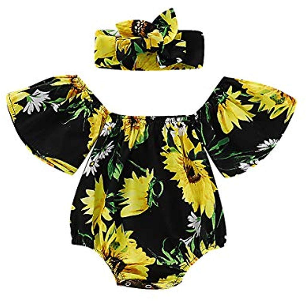 Cuekondy Infant Toddler Baby Boys 2019 Summer Clothes Outfits Fashion Short Sleeve Romper+Strap Shorts Set 6-24 Months