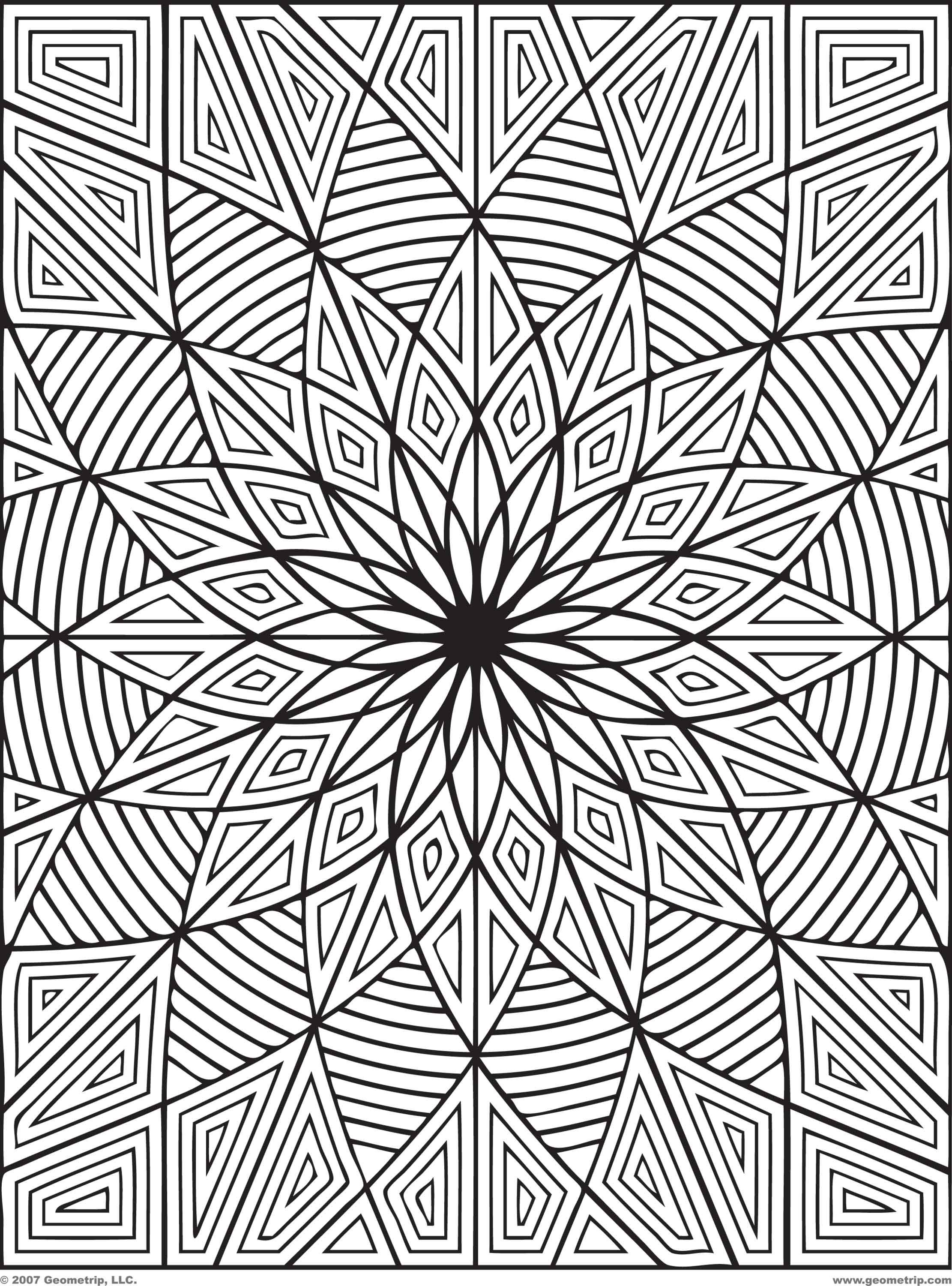 difficult geometric design coloring pages rectangles page 1 of 2 - Coloring Pages With Designs