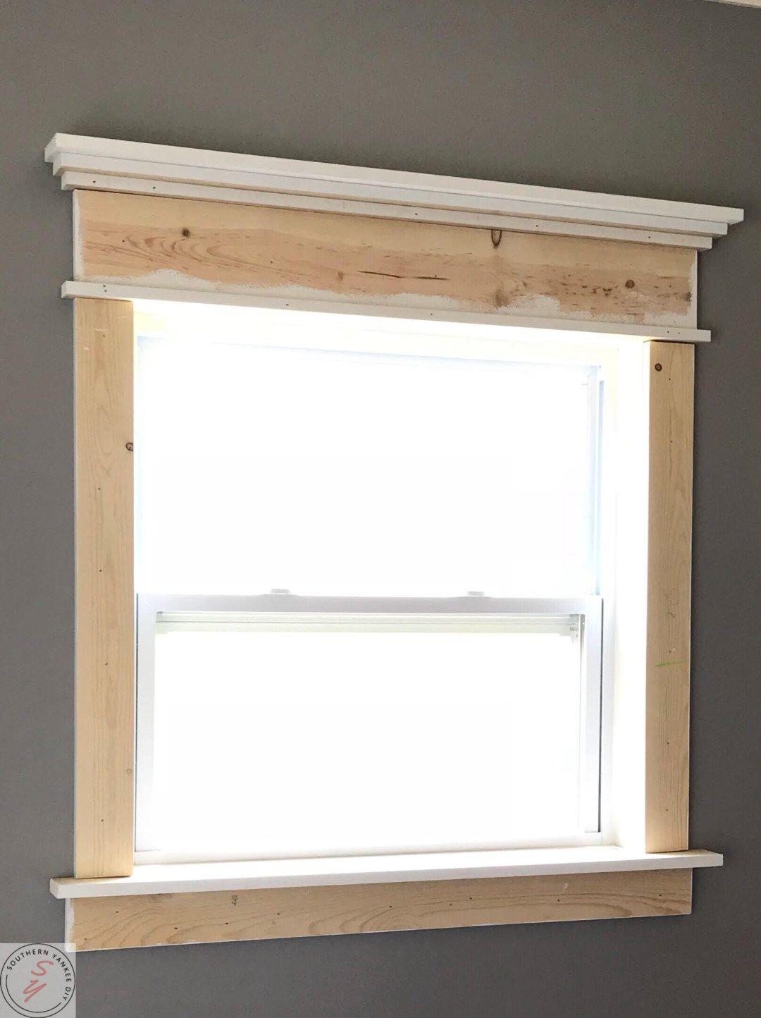 Fancy Window Trim the Lazy Girl Way Interior window trim