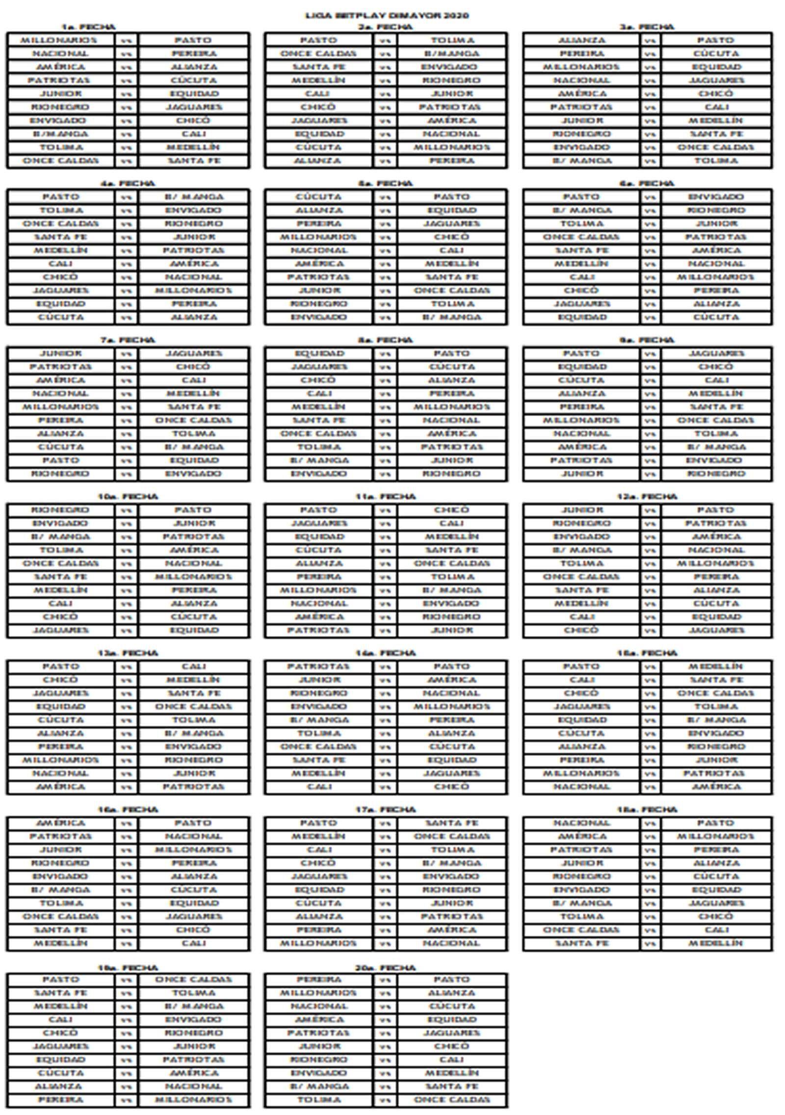Liga Betplay Dimayor 2020 I Calendario De Partidos De Dimayor Goal Com En 2020 Calendario De Partidos Calendario America De Cali