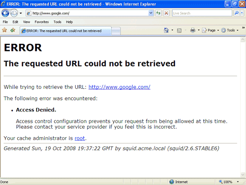 Restrict access using squid proxy server - YourHowTo net