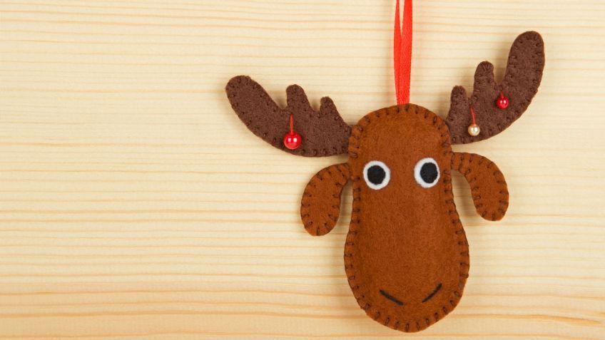 Hacer un reno de fieltro - moose christmas decorations