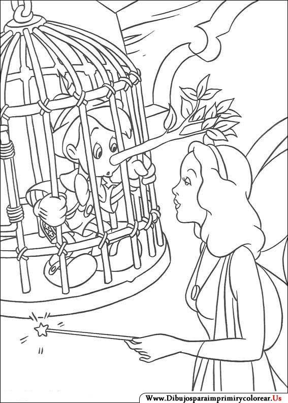 Dibujos de Pinocho para Imprimir y Colorear | pinocho | Pinterest ...