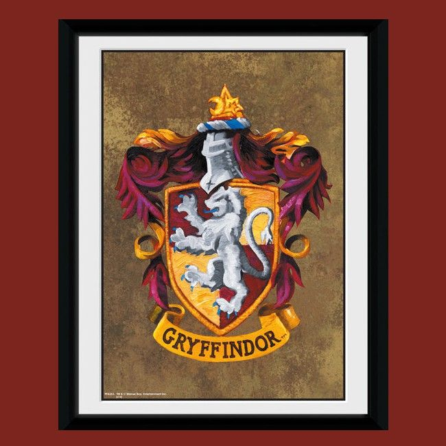 Cadre harry potter blason gryffondor harry potter for Decoration maison harry potter