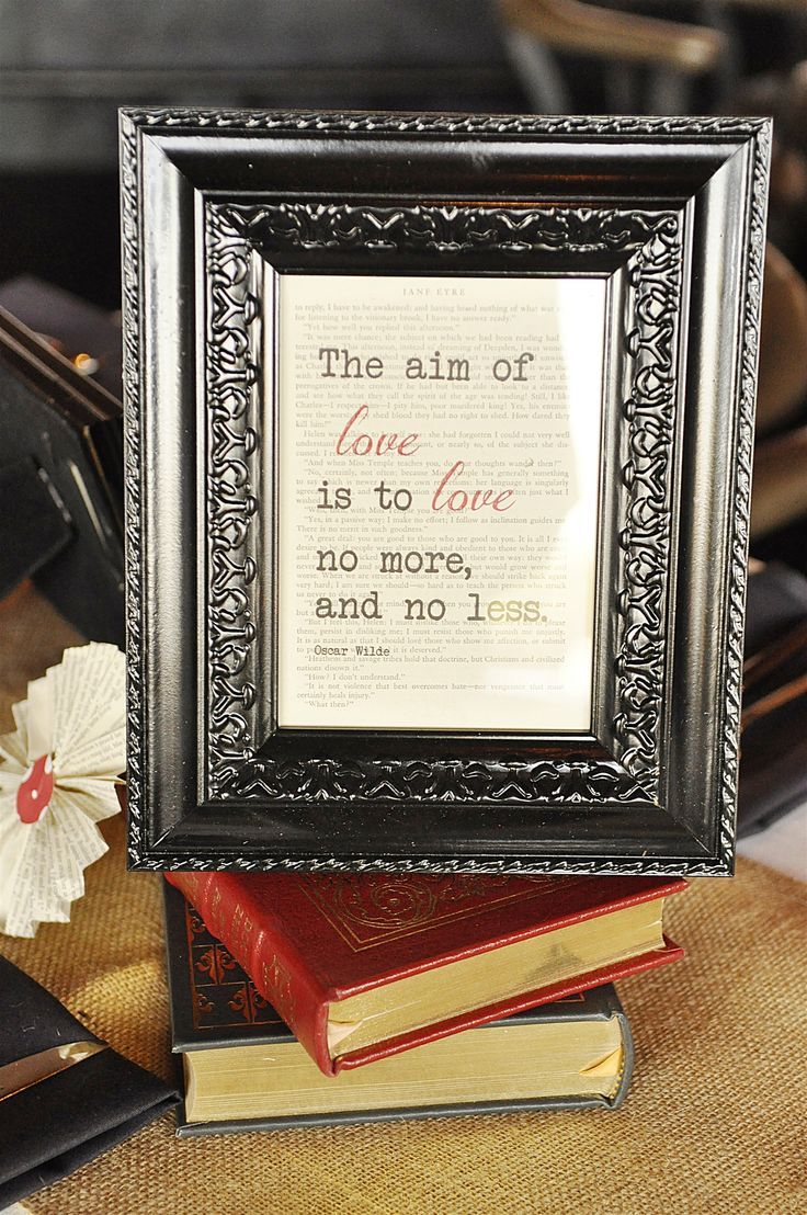 Quotes About Wedding & Love: Wedding Rehearsal Dinner}Literary Love Theme