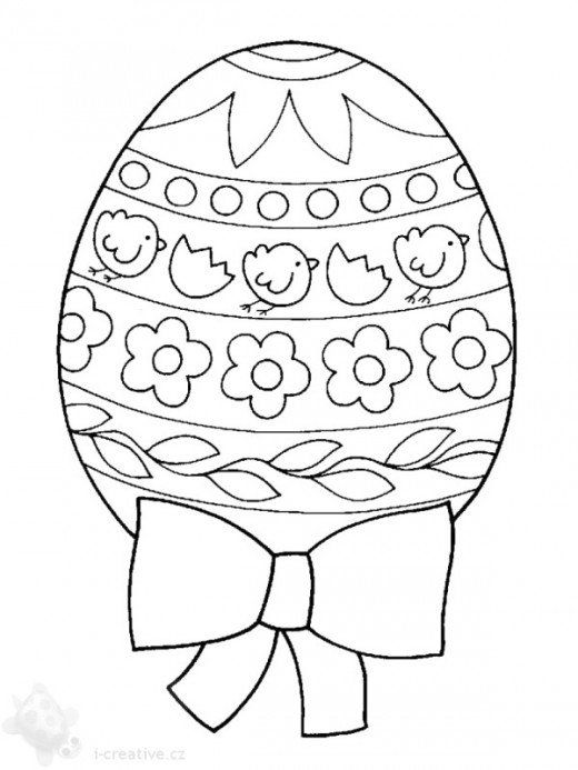 Kids Easter themed coloring pages print these secular spring egg