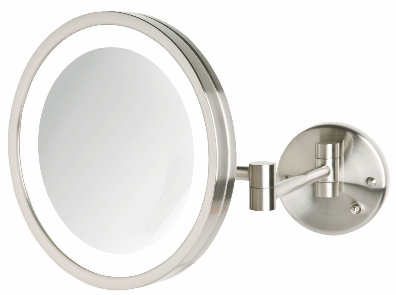 Wall Mounted Lighted Magnifying Mirror 10x The Mount Is Easier Method To Produce Plasma And Lcd Television Sets