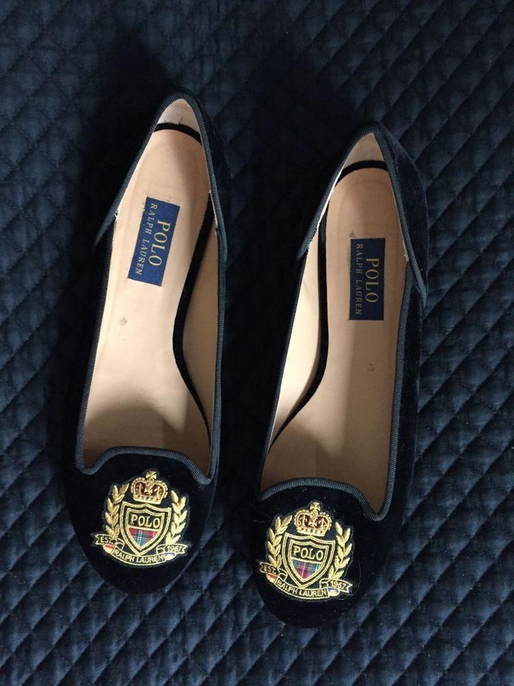 e15dcb4e3c60 Ralph Lauren Velvet Slipper Flats Size 41 10 Worn only once!  RalphLauren   BalletFlats  Casual