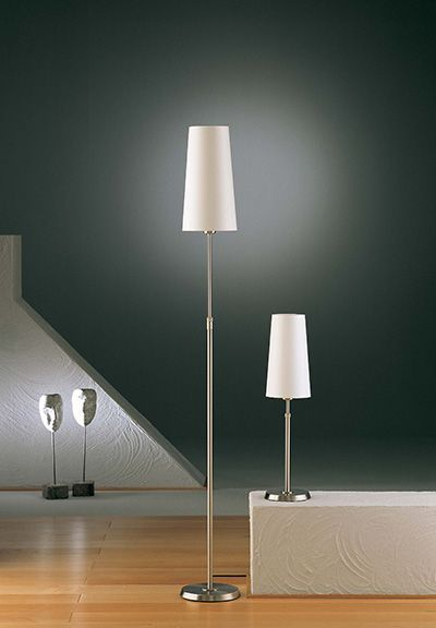 Holtkoetter fabric shaded adjustable floor lamp no