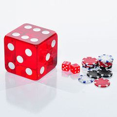 4-Inch Red Dice