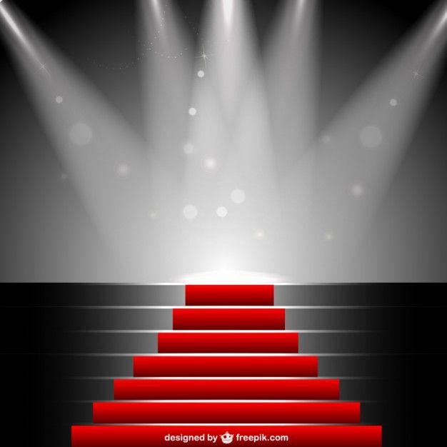 Red carpet under sportlight vector Free Vector | ANNUAL