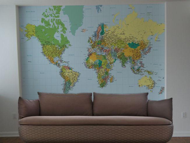 Papel de Parede Mapa Mundi Adesivo   Pinteres