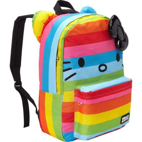 ca79ab158b NWT-Loungefly-Hello-Kitty-Rainbow-Backpack-with-Ears-Black-Plush-3D-Bow