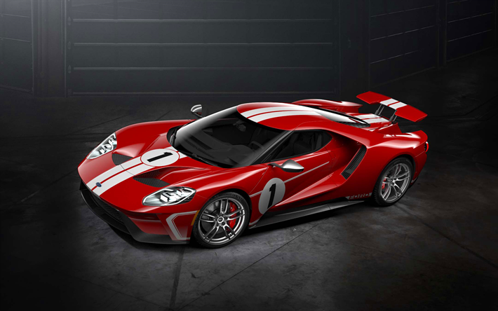 Download Wallpapers Ford Gt 2017 67 Heritage Edition Sport Car Red Gt American Cars Ford Besthqwallpapers Com Ford Gt Ford Gt 2017 Super Cars