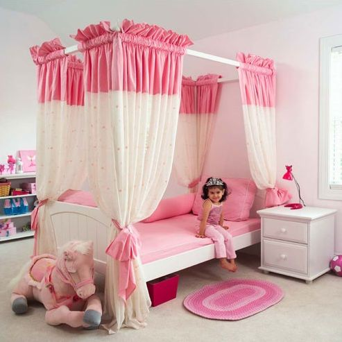 This Is Such An Adorable Canopy Bedroom Set For Your Little Princess
