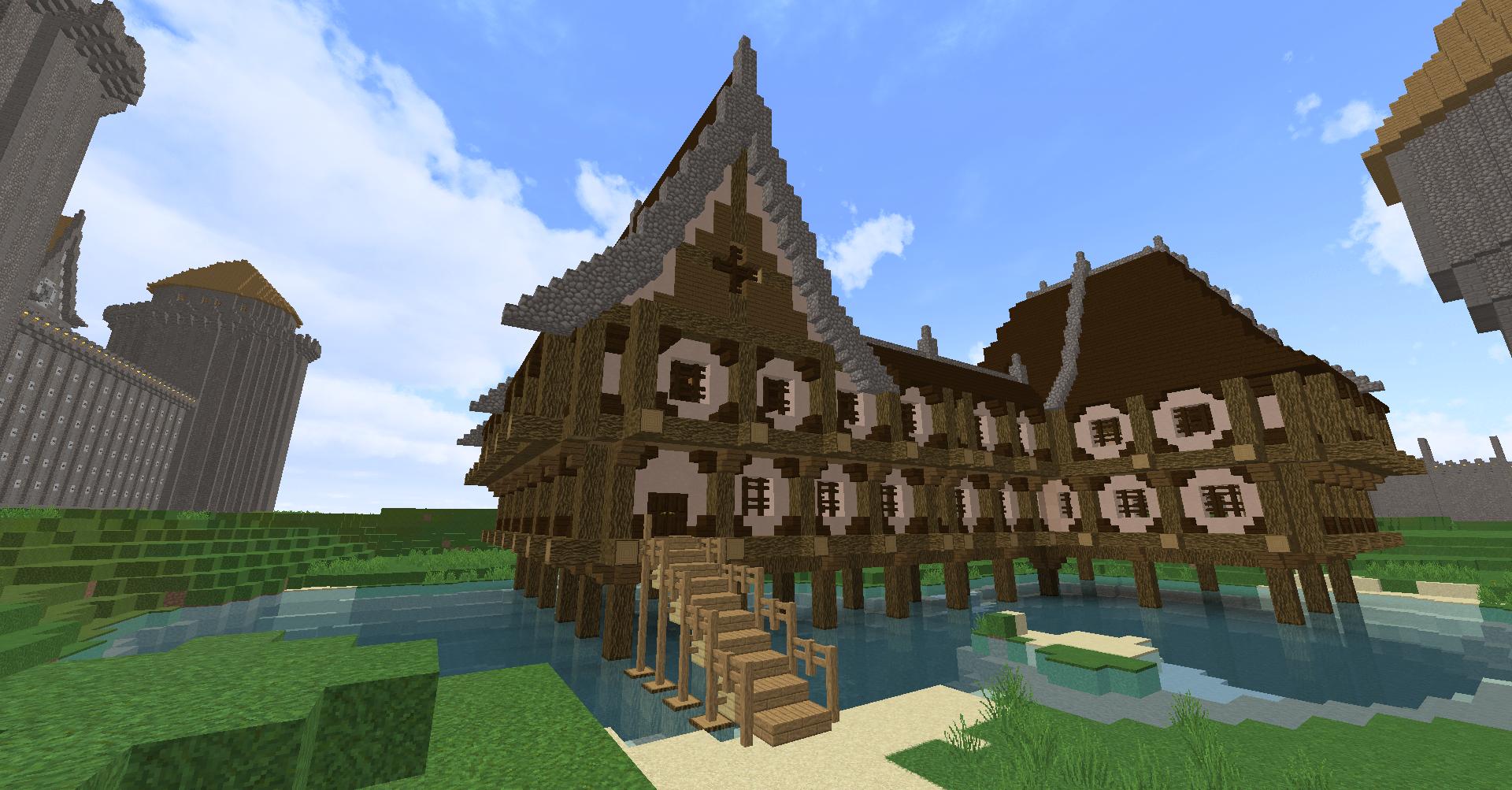 Fantasy Minecraft Lake House Minecraft Pinterest Minecraft - Minecraft ingame spiele