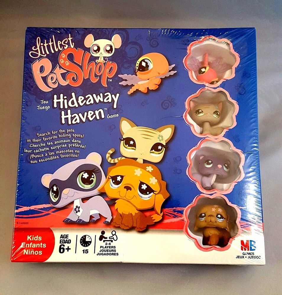 Littlest Pet Shop Hideaway Haven Board Game New Factory Sealed Includes 4 Pets Hasbro Lps Littlest Pet Shop Pet Shop Board Games