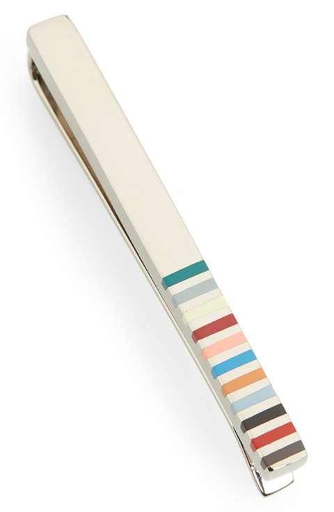 Paul Smith Stripe Tie Bar