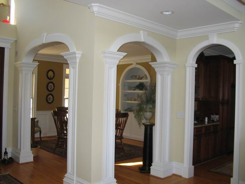Arched Openings Photos Construction Specialist In North Carolina Remodeling Renovation House Trim Custom Kitchens