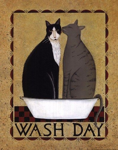 Wash Day Art Print by Dotty Chase