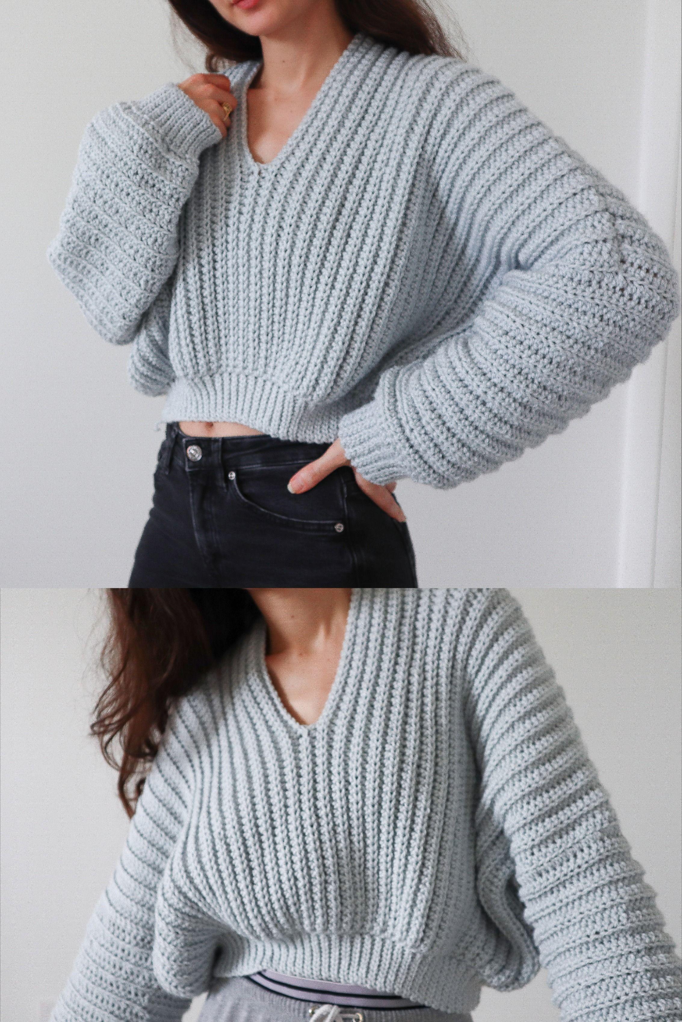 Super Slouchy Sweater - Crochet Pattern
