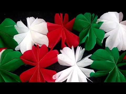 Guirnalda Con Papel De China Para Fiestas Patrias Youtube