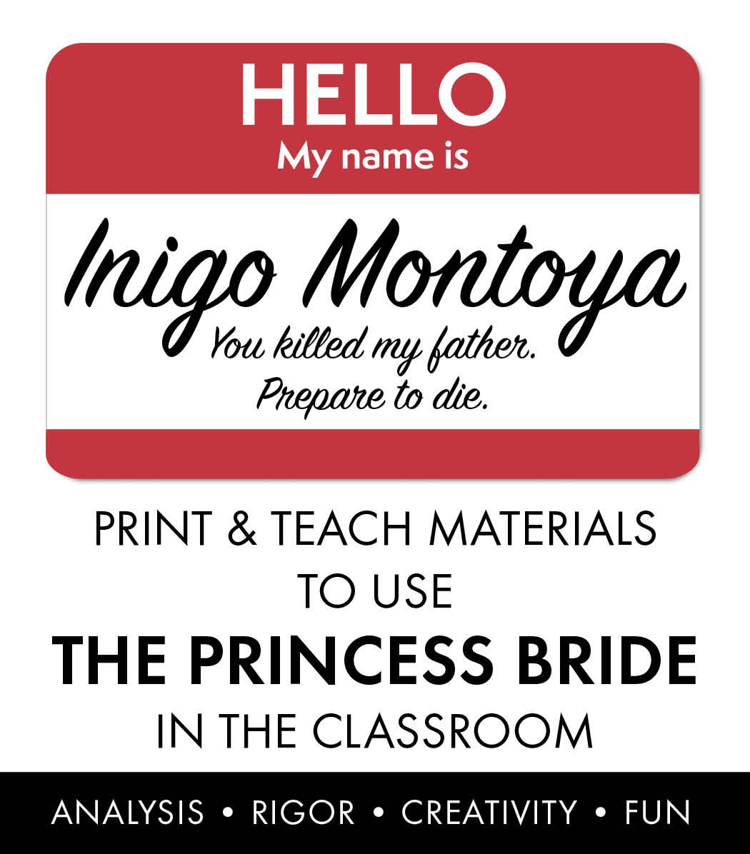 princess bride film study add rigor to movie viewing worksheets  have your students met inigo montoya bring the princess bride to your classroom easy