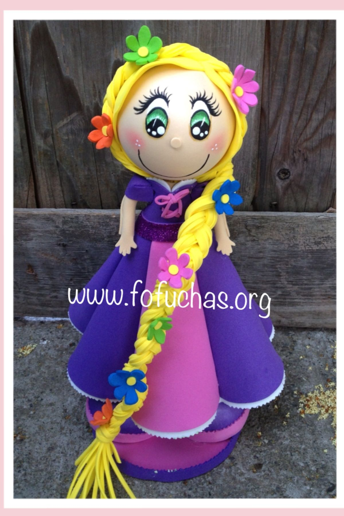 Handmade Princess Rapunzel Fofucha doll. Doll is made using foam sheets. She…