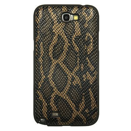 DW Premium Leather Case for Samsung Galaxy Note 2 - Brown Snake