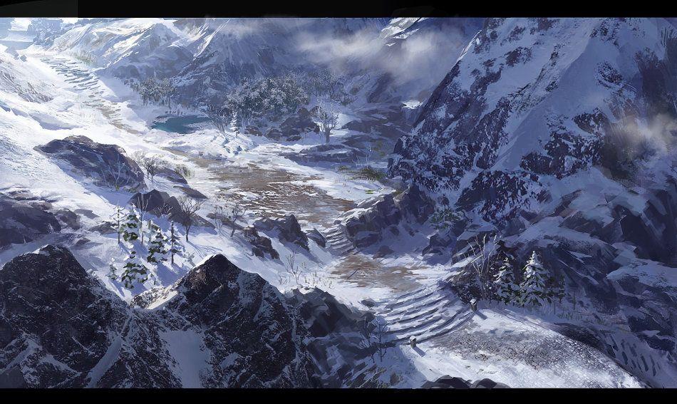 Snow Mountain Fantasy Landscape Landscape Concept Arctic Landscape