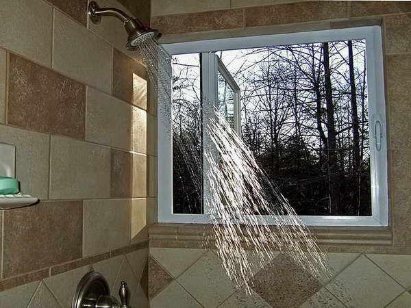 Shower Tile Patterns Pictures Window In Shower Bathroom Tile