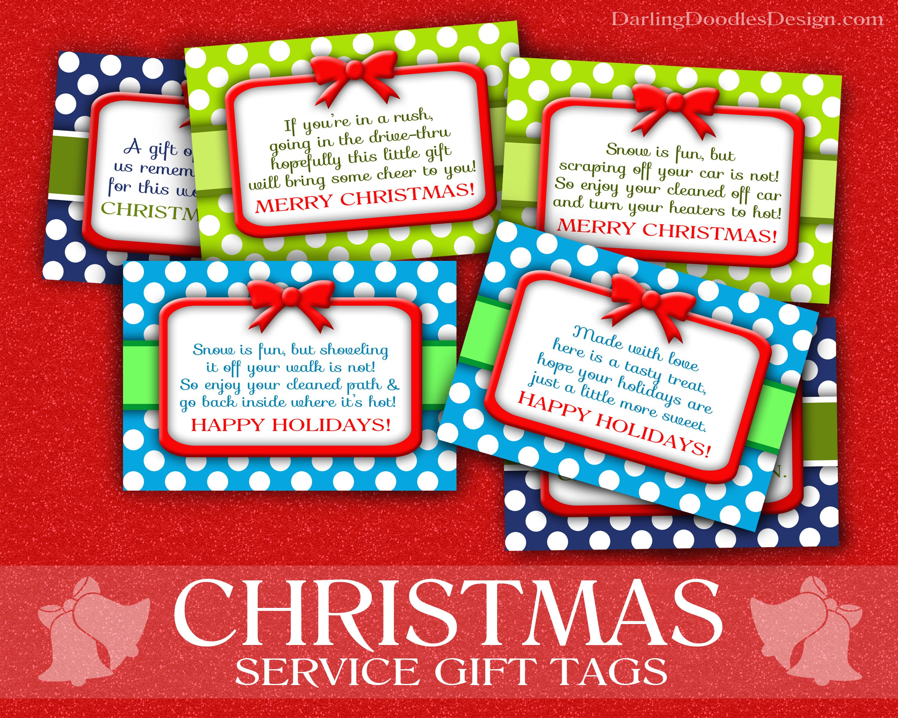 Christmas Service Gift Tags- free printable tags for doing random ...