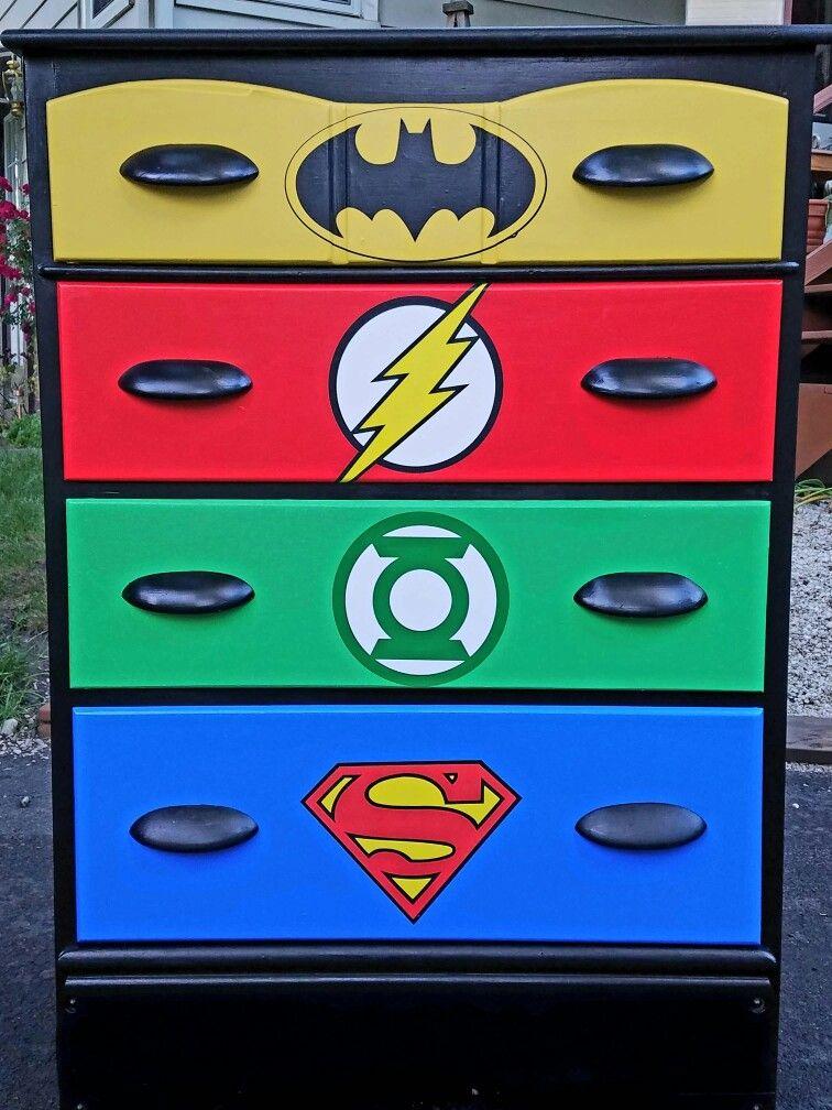 superhero dresser diy kids furniture projects pinterest