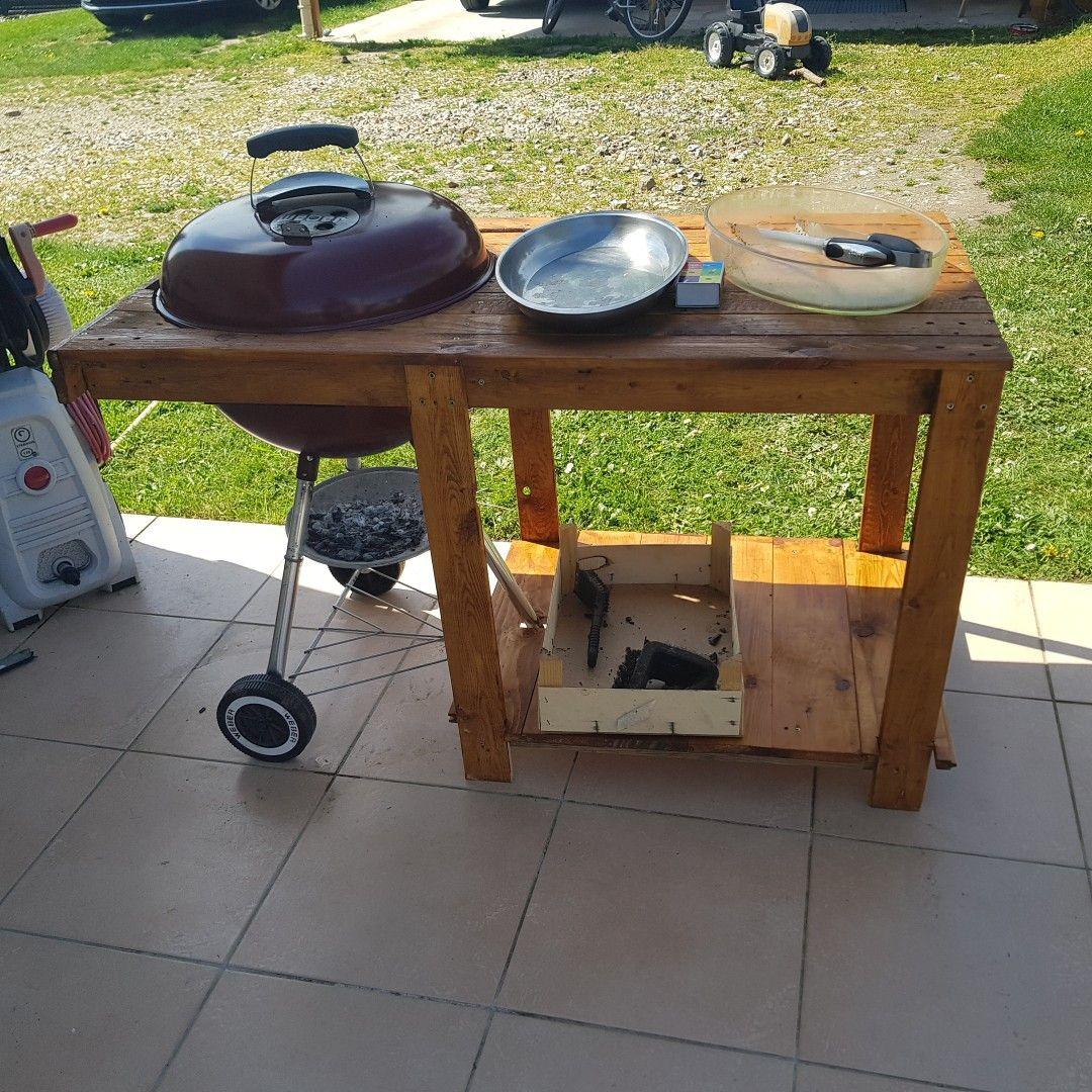 Servante Barbecue Weber Pallet Table Table Home Decor