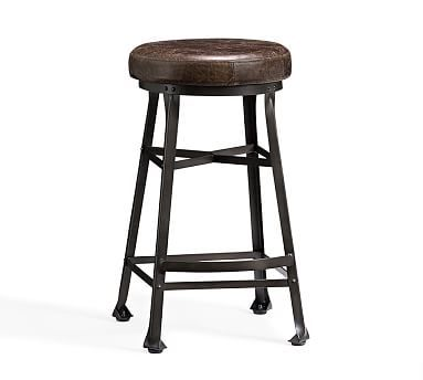Amazing Decker Leather Barstool Bar Height Chocolate Leather Spiritservingveterans Wood Chair Design Ideas Spiritservingveteransorg