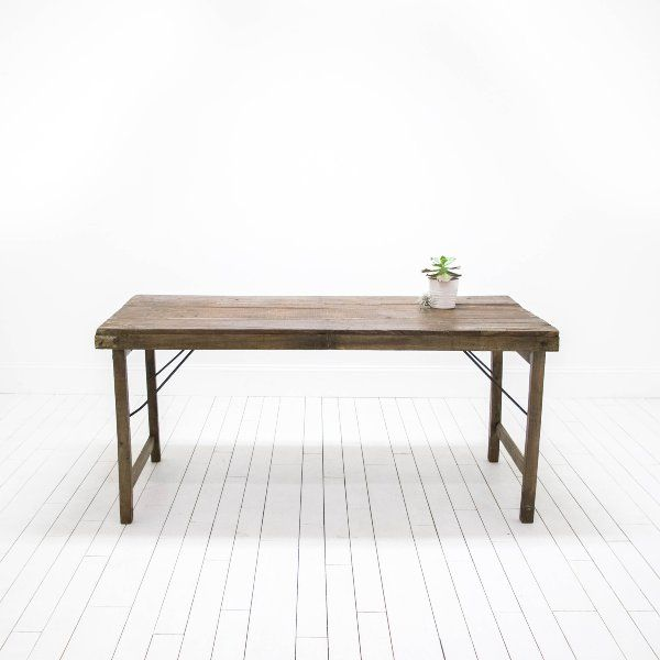 Superbe Reclaimed Wood Table | Metal And Wood Table | Rustic Industrial Table |  Birch U0026 Brass