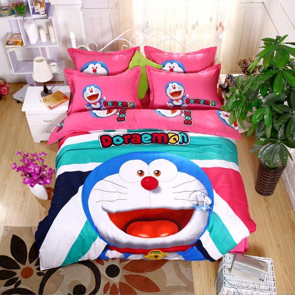 Cartoon Pattern Design Bedding Sets Doraemon Bedding Set
