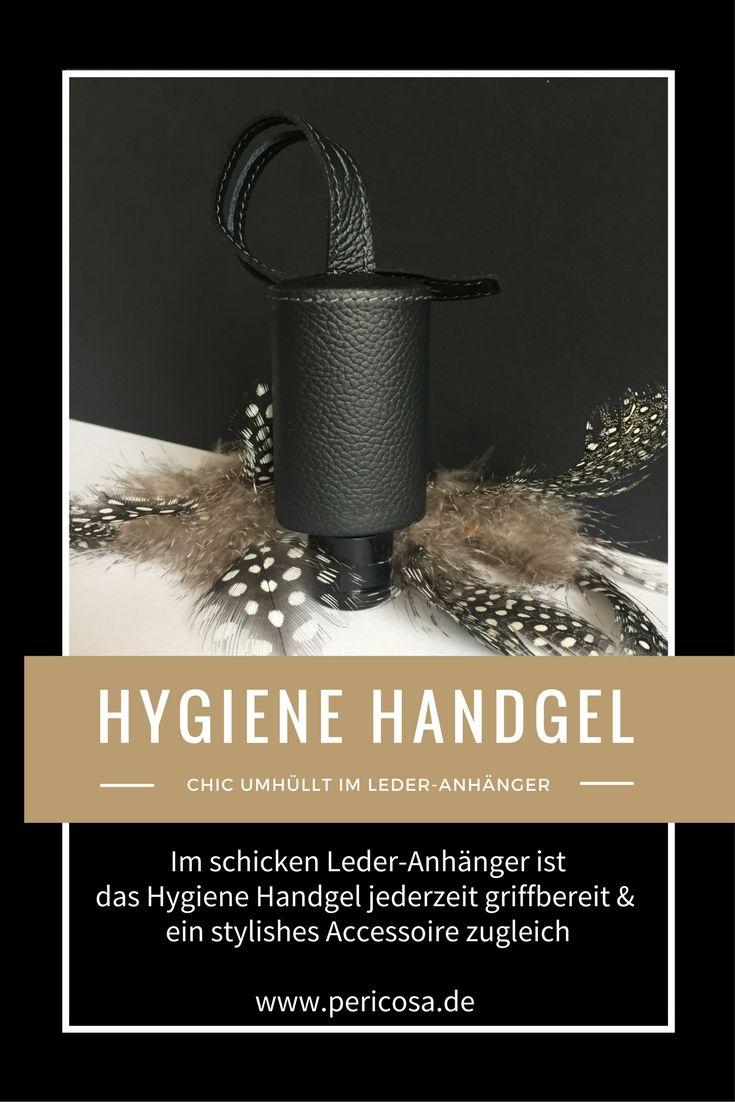 Hygiene Handgel Immer Griffbereit Im Schicken Leder