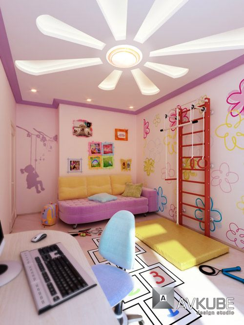 Kids Bedroom Lighting Ideas Part - 36: Modern Interior Lighting Decor Ideas From AVKube. Like The Wall Gym Too!  Girls Bedroom DecoratingKids ...