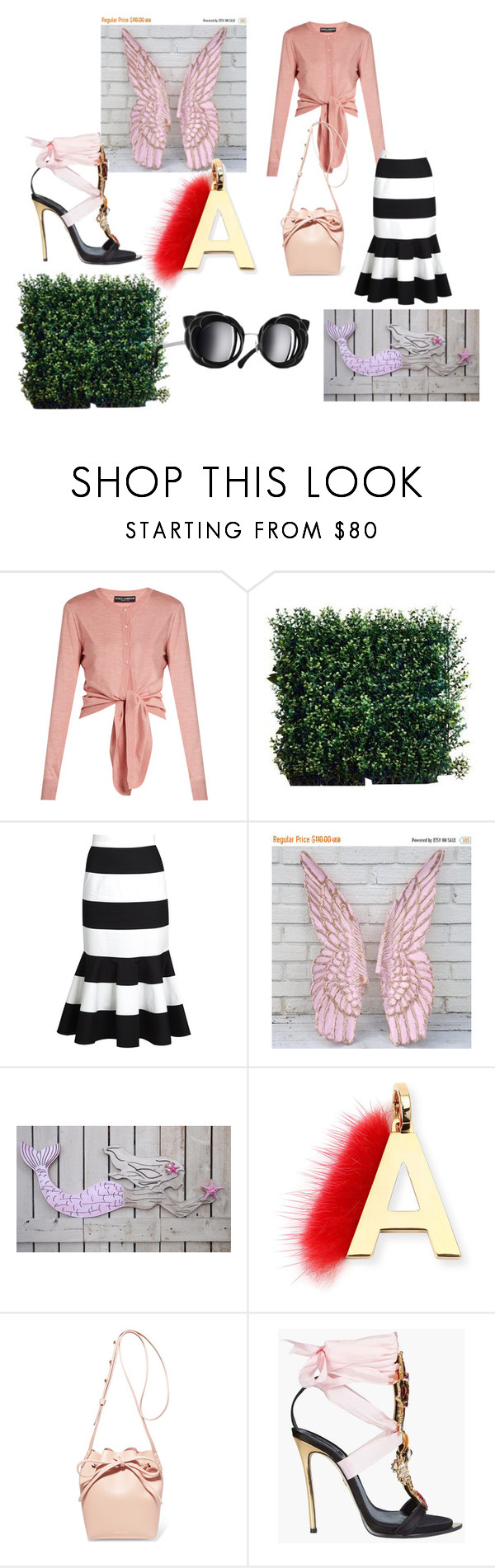 """""""Untitled #102"""" by sabii-dlii ❤ liked on Polyvore featuring Dolce&Gabbana, Fendi, Mansur Gavriel, Chanel and Dsquared2"""