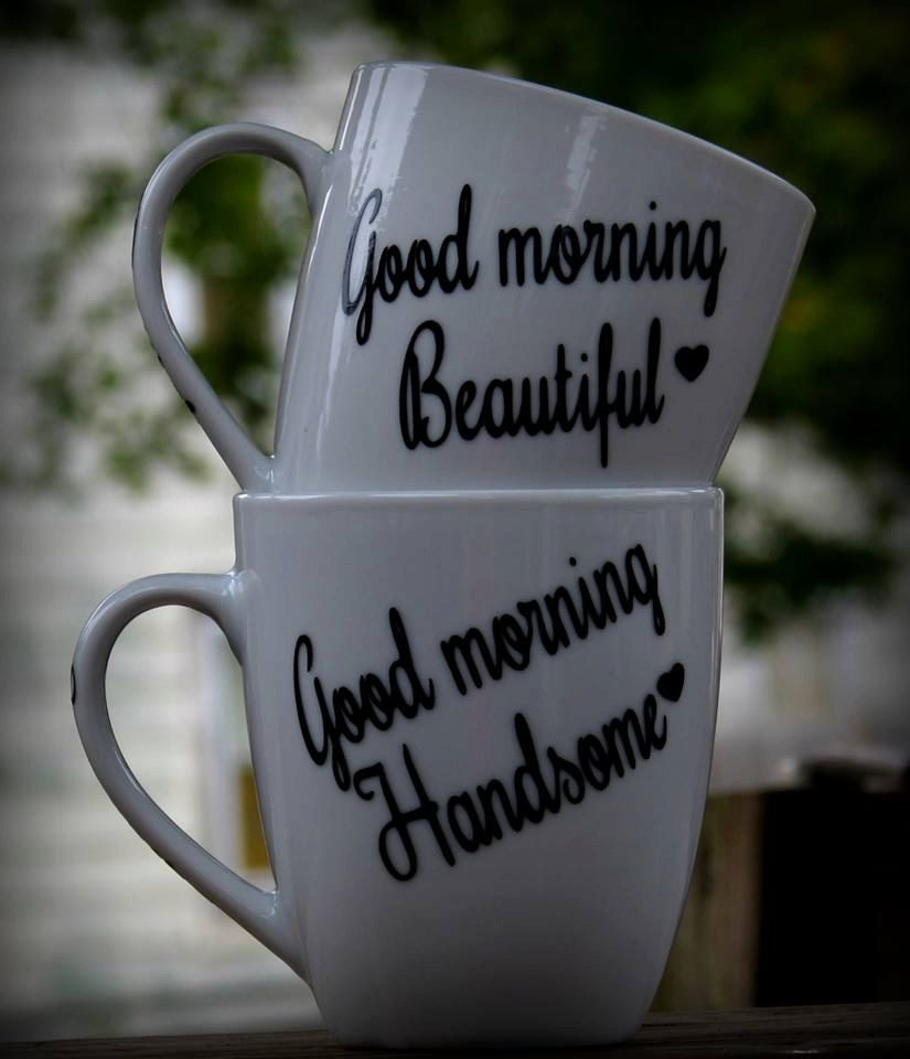 Good Morning Beautiful, Good Morning Handsome Coffee Mug, Set of 2 sweetest day gift setsfast Shipping