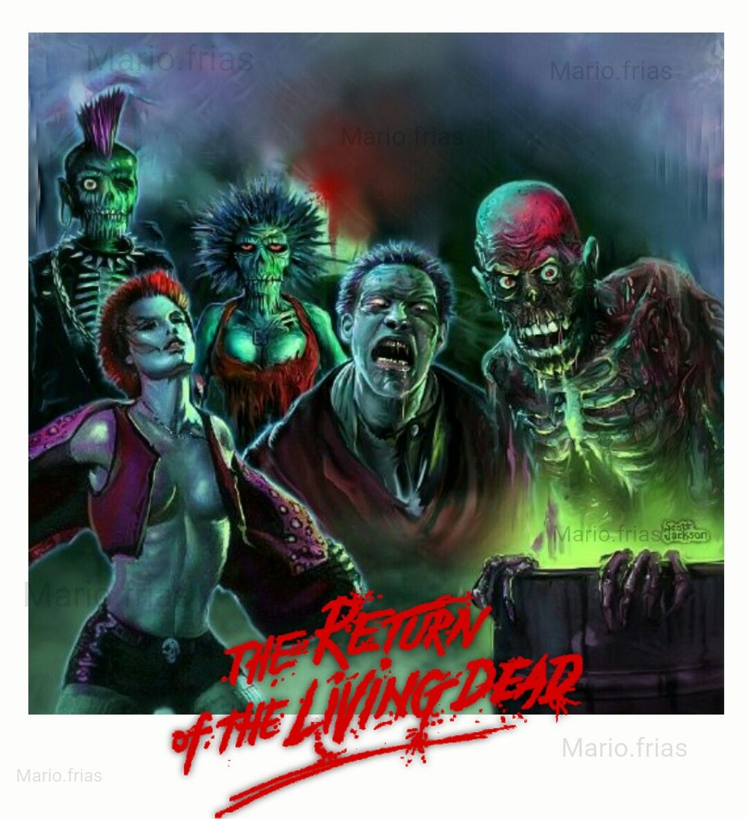 The Return of the living dead Horror Movie Zombies ...