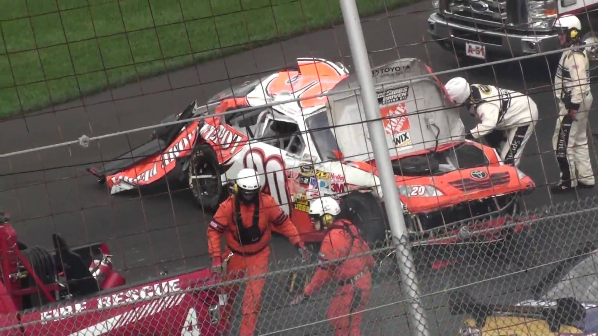Joey Logano Horrific Crash at Dover from Grandstands! [HD